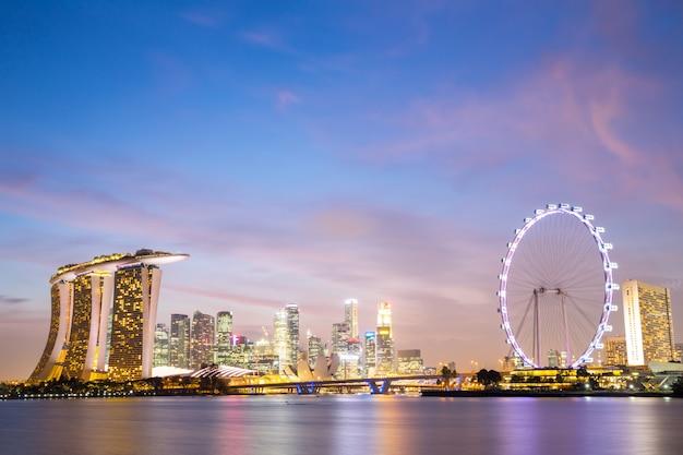 Singapur-stadt im stadtzentrum gelegen
