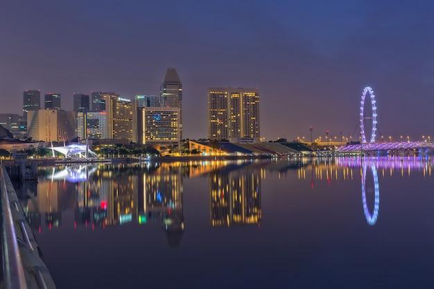 Singapur-stadt skyline im geschäftsviertel