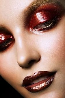 Sinnliches glamourporträt der schönen frau model lady Premium Fotos