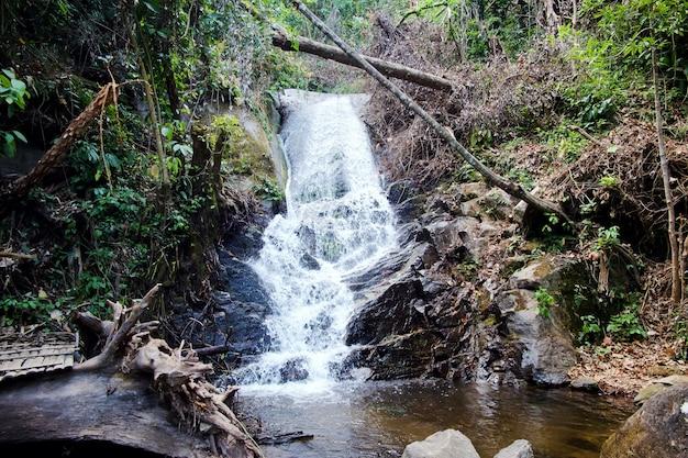 Siriphum-wasserfall an nationalpark doi inthanon, chiang mai, thailand.