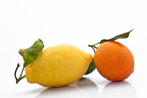 Sizilianische orange und zitrone
