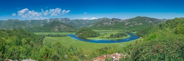 Skadar see und crnojevica fluss in montenegro