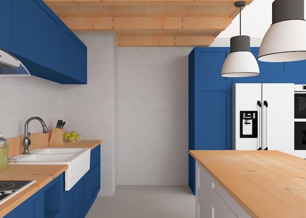 Skandinavisches interieur - küche