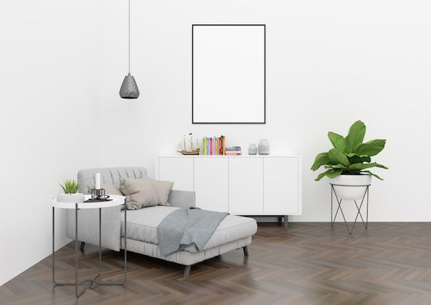 Skandinavisches wohnzimmer im nordischen stil