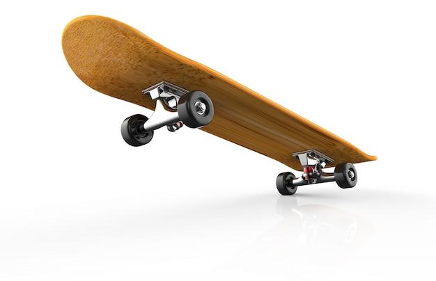 Skateboard auf einem weißen hintergrund