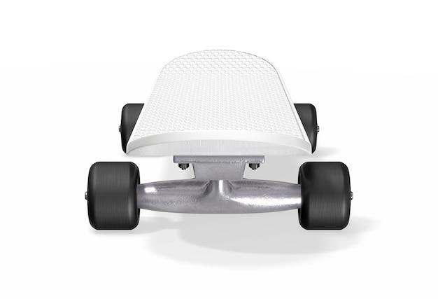 Skateboard auf weiß. 3d-rendering.