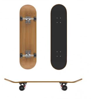Skateboardplattform auf einem weißen hintergrund
