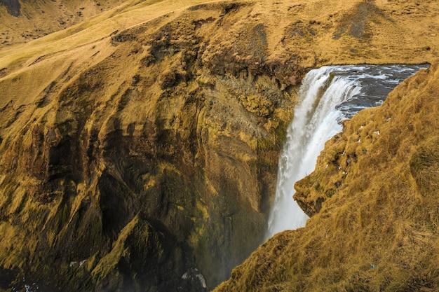 Skgafoss ist einer der schönsten wasserfälle islands