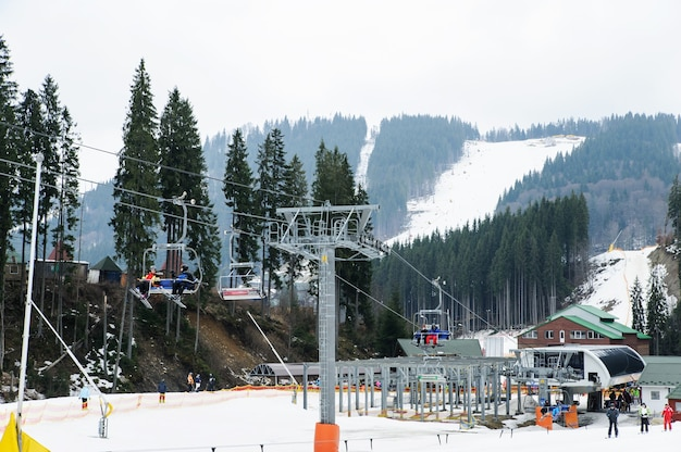 Skigebiet bukovel, karpaten