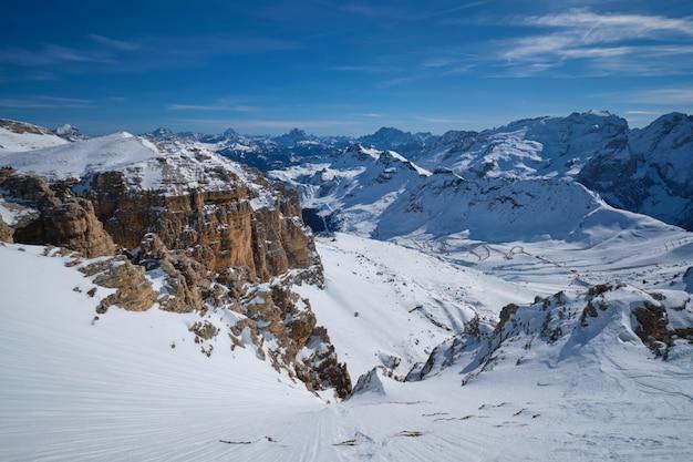 Skigebiet in dolomiten, italien