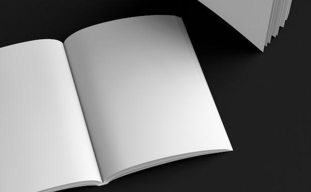 Skizzenblock katalog leere vorlage rendern