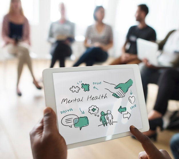 Skizzendiagramm für die psychische gesundheit