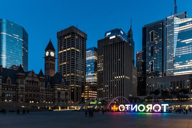 Skyline architectura und gebäude in toronto kanada