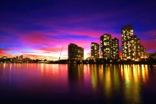 Skyline bei sonnenuntergang