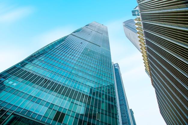 Skyline der modernen städtischen architekturlandschaft