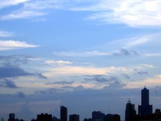 Skyline der stadt, nachmittags