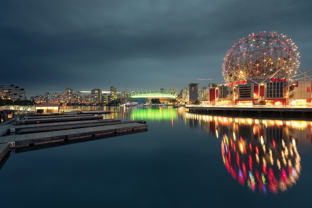Skyline der stadt vancouver, british columbia, kanada