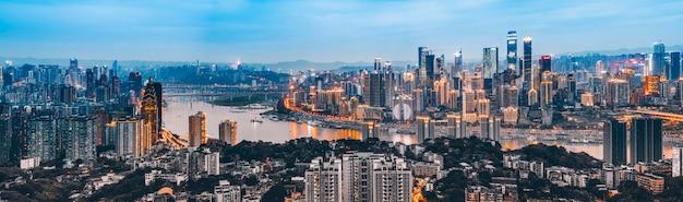 Skyline der städtischen architekturlandschaft in chongqing