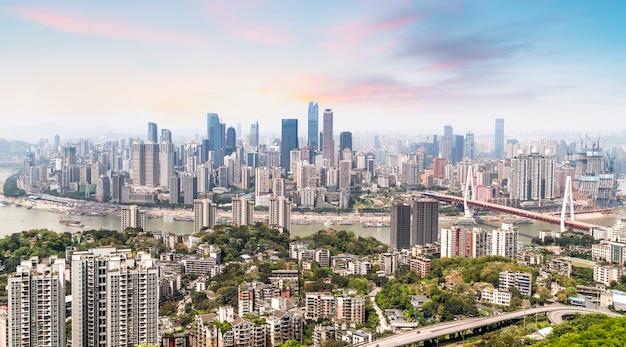 Skyline der städtischen architekturlandschaft
