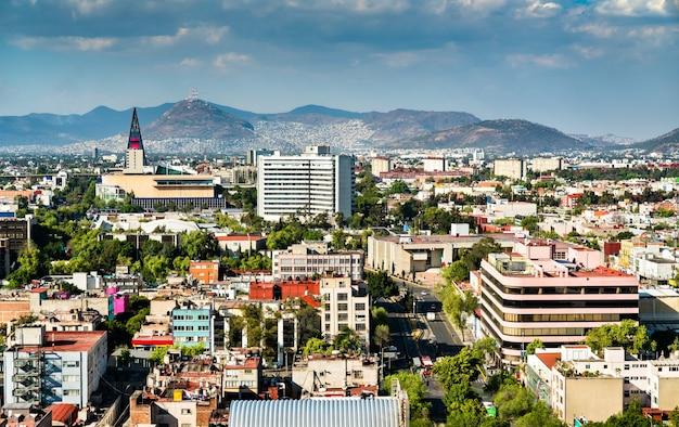 Skyline von mexiko-stadt, der hauptstadt von mexiko