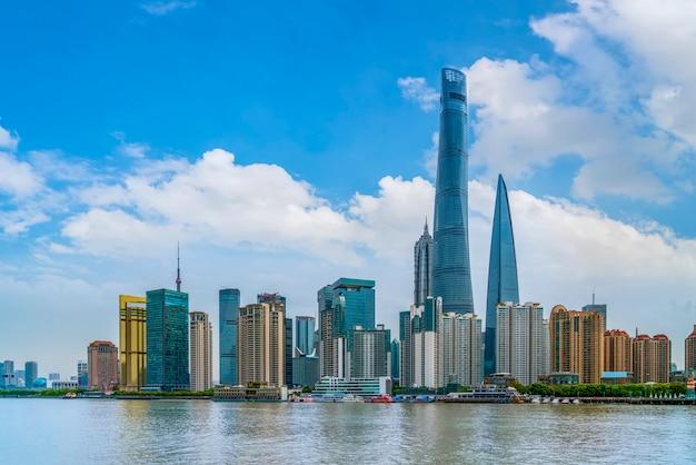 Skyline von shanghai städtischer aufbau