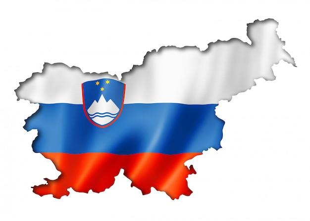 Slowenische flaggenkarte
