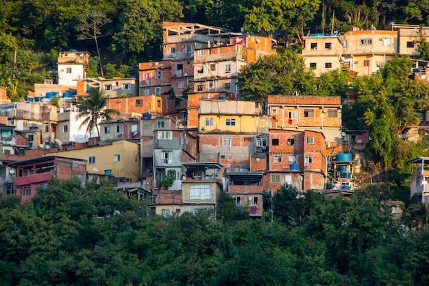 Slum von tabajara in rio de janeiro brasilien.