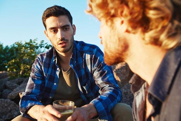 Small talk mit dem besten freund