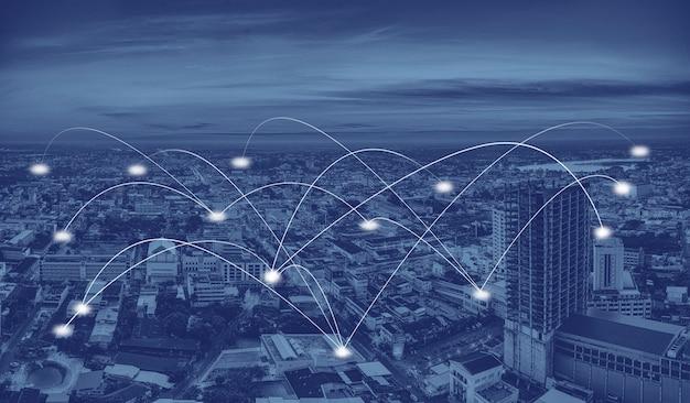 Smart city und kommunikationsnetzwerk