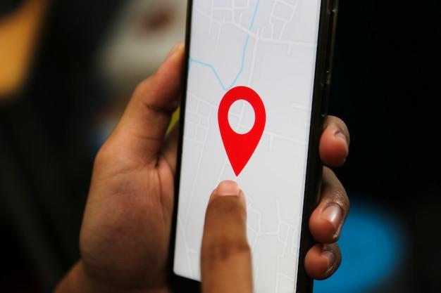 Smart location auf einem smartphone teilen