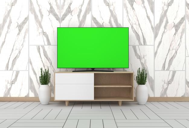 Smart tv mockup kabinendekor