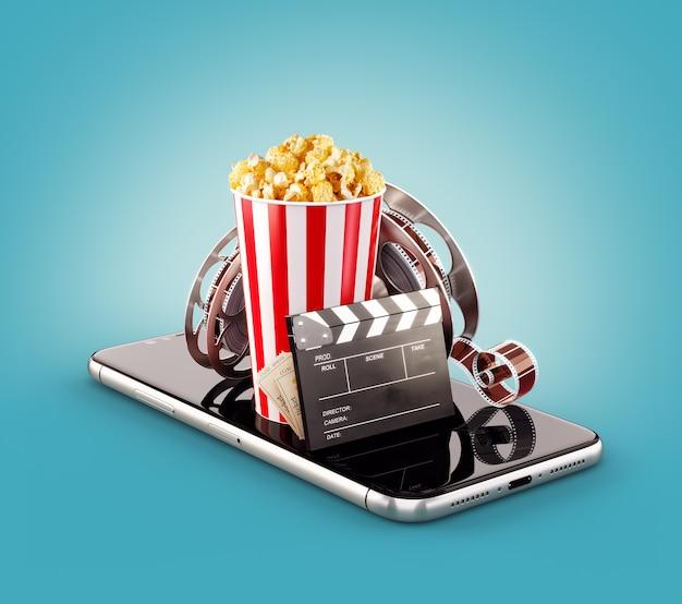 Smartphone-anwendung zum online-kauf und zur buchung von kinokarten.