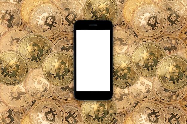 Smartphone auf bitcoins