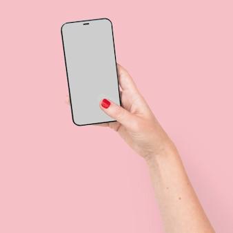 Smartphone-bildschirm hand digitales gerät Kostenlose Fotos
