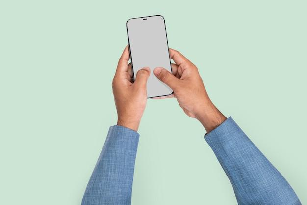 Smartphone-bildschirm hand digitales gerät