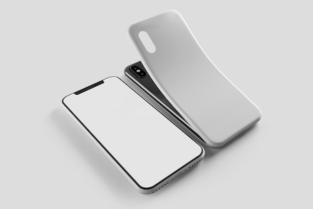 Smartphone-bildschirm und fall - wiedergabe 3d