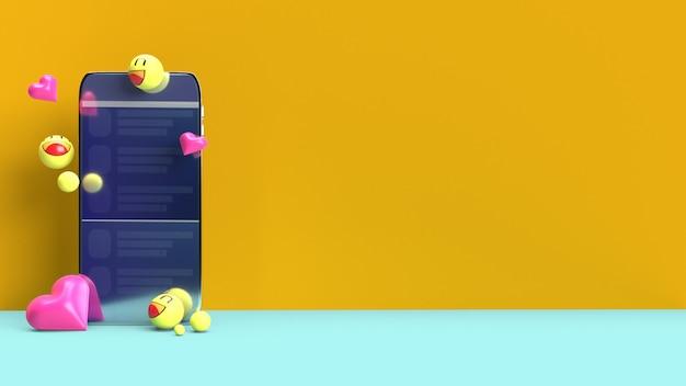 Smartphone mit 3d-emojis