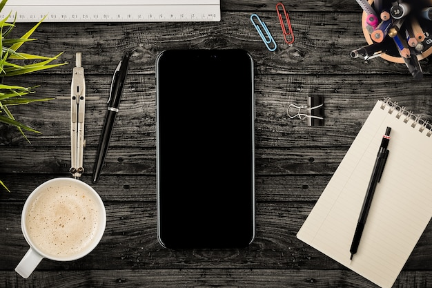 Smartphone mit bürowerkzeugen