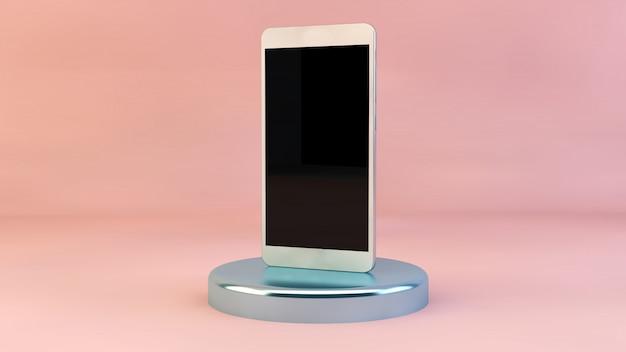 Smartphone mit rosa oberfläche