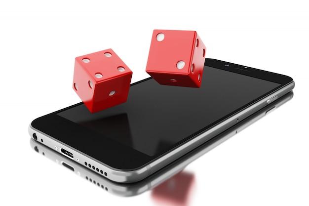 Smartphone mit würfeln