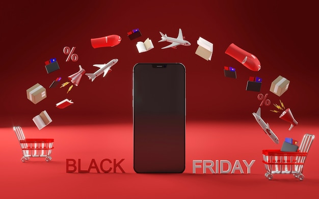 Smartphone-symbol für black friday event