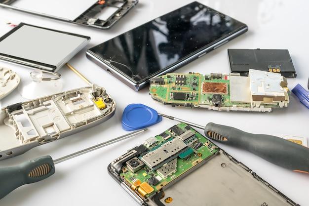 Smartphone-teile und tools zur wiederherstellung