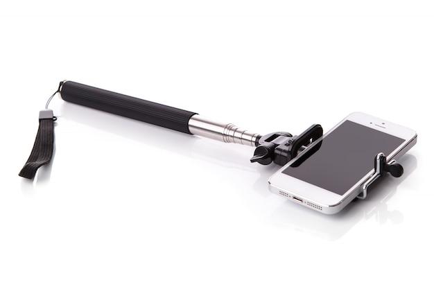 Smartphone und selfie-stick