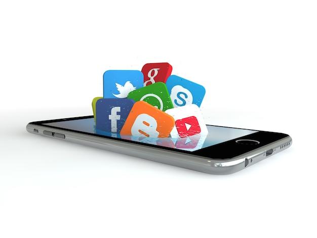 Smartphone und soziale medien