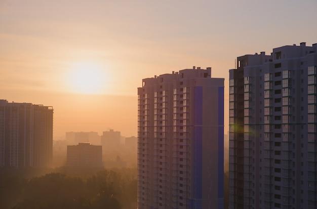 Smog in der großstadt