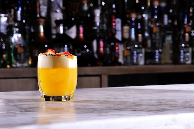 Smoothie orangensaftgetränk