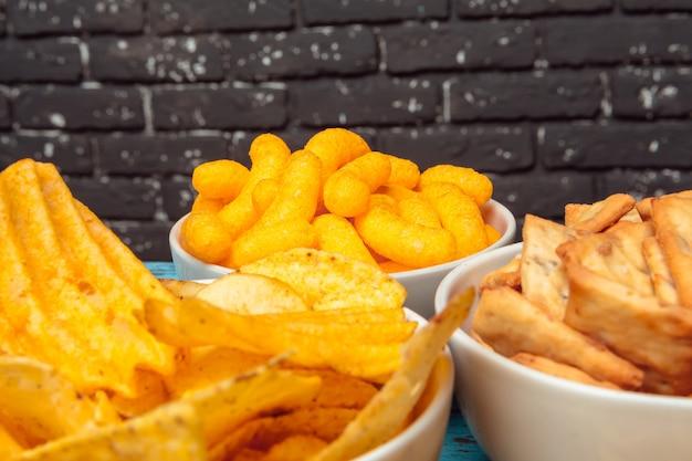 Snacks in schalen