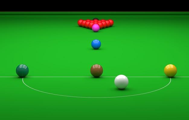 Snookerkugel auf dem tisch