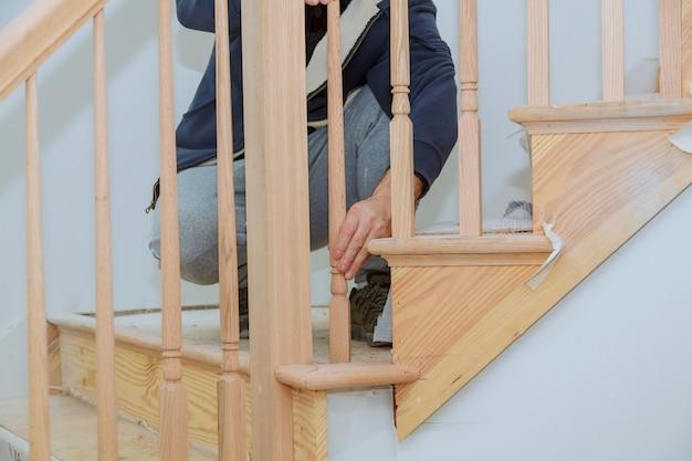 So installieren sie ein treppengeländer-kit installation für holzgeländer für treppen