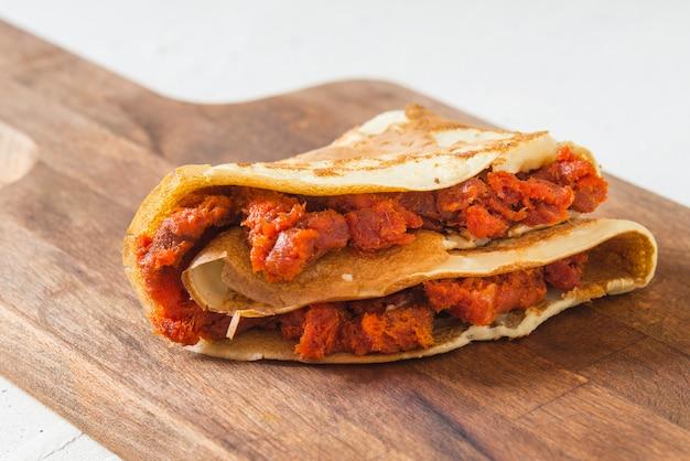 Sobrasada und crêpe typisch mallorca